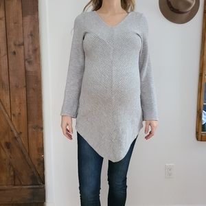Asymmetrical Grey Sweater dress